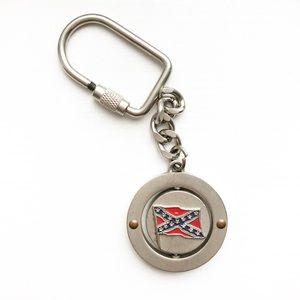 Accessories - Steel & enamel Confederate Flag keychain